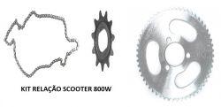 Kit relação scoooter 800W