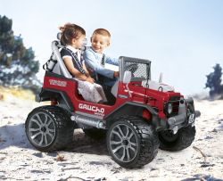 Mini Veiculo Jeep Elétrica Gaucho Grande Red Peg Perego